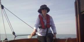 Sailing Nancy Balckett - Sophie Neville at the helm - photo Judy Taylor (1)