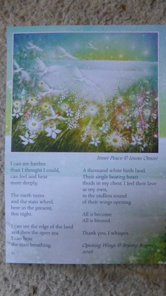 Bryony Opening Wings poem 2018 diary